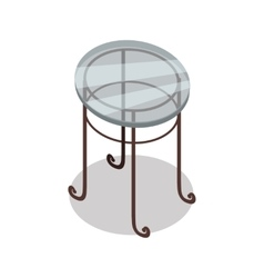 Round Glass Table in Isometric Projection vector image vector image