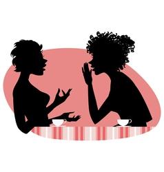 Women talking vector image