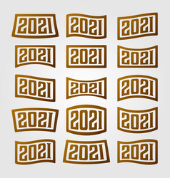 2021 number collection logo new year design vector image