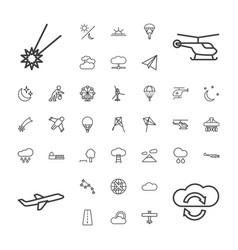 37 sky icons vector