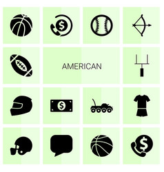 American icons vector