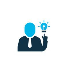 brainstorming icon colored symbol premium quality vector image