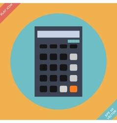 Calculator icon - Flat design vector image