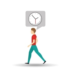 Character bubble speech with clock time vector