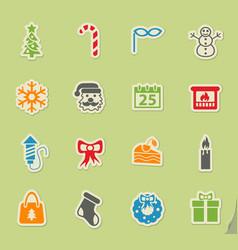 Christmas icon set vector