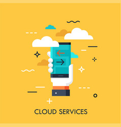 cloud services flat concept vector image