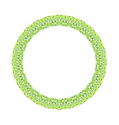 Colorful floral round border - circular abstract vector