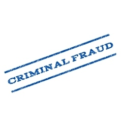 Criminal Fraud Watermark Stamp vector