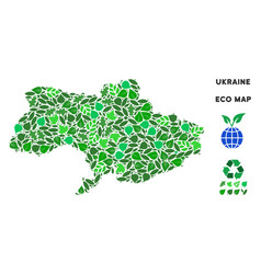 Ecology green composition ukraine map vector
