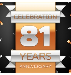 Eighty one years anniversary celebration golden vector