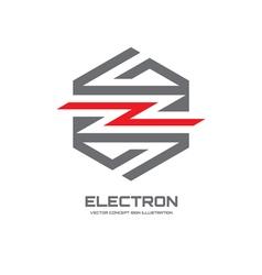 Electron - logo concept vector