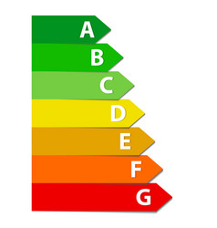 energy efficiency rating set vector image