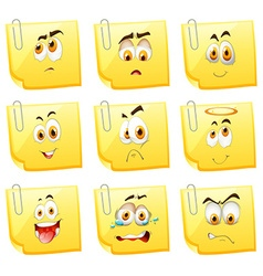 Facial expression on papers vector image