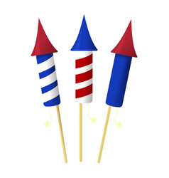 Firework icon happy 4 th july and independence vector