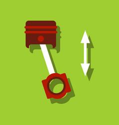 Flat icon design collection piston scheme in vector