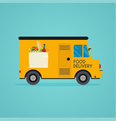 Food delivery meal-kit delivery service online vector