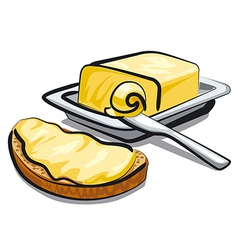 Fresh butter vector
