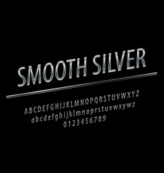 glossy sign silver smooth chic silver vector image