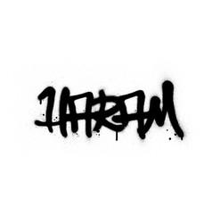 graffiti haram word sprayed in black over white vector image