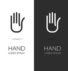 Hand logo Hand icon Handmade stylized hand vector image