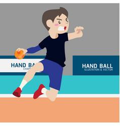 handball athletic sport cartoon set vector image