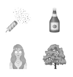 Holiday happy and other monochrome icon in vector