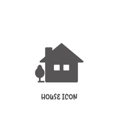 house icon simple flat style vector image