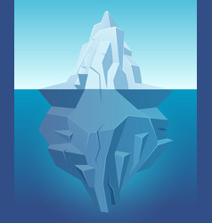 iceberg in ocean big ice white rock in water vector image
