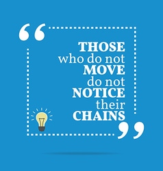 Inspirational motivational quote Those who do not vector