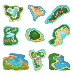Island islet or peninsula with beach and vector