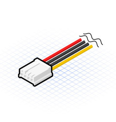 Isometric 4 Pin Floppy Connector vector image