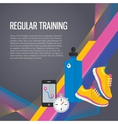 Jogging sport gym background about regular vector