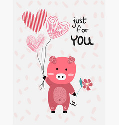 Love card flat design hand drawn love card vector