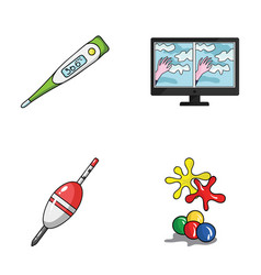 Medicine fishing and other web icon in cartoon vector