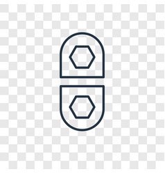 Medicines concept linear icon isolated on vector