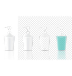 Mock up realistic white cosmetic gel soap bottles vector
