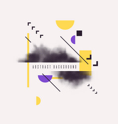 modern abstract art geometric background with flat vector image