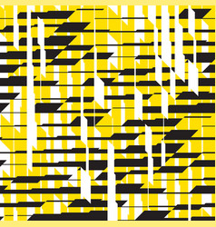 modern black and yellow striped seamless pattern vector image
