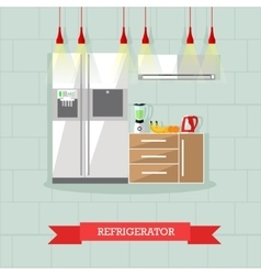 Modern kitchen interior in vector