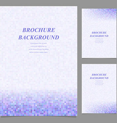 Modern square pattern brochure background set vector image