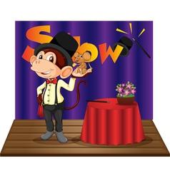 Monkey magician vector image
