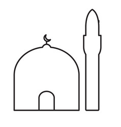 mosque minaret icon vector image