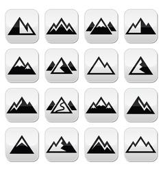 Mountain buttons set vector