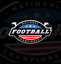 National championship american football logo on a vector