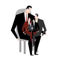 office relatives corporate kinsfolk business vector image