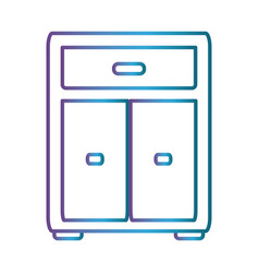 Ofice drawers icon vector