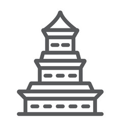 pagoda line icon japan and architecture japanese vector image