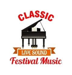 Piano Classic music festival emblem vector