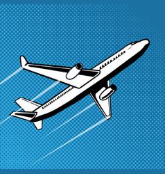 plane takes off pop art vector image