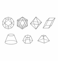 Polyhedrons set vector